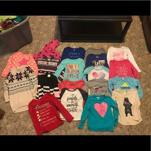 Little girls long sleeve lot
